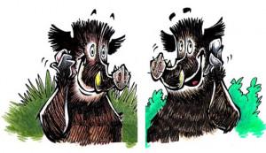 Les-Cochons-Sauvages---Sangliers-au-telephone--jpg